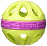 Kurgo Dog Toy Wapple(TM) Ball for Dogs, Courtside Green