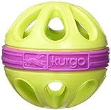 Kurgo Dog Toy Wapple(TM) Ball for Dogs, Courtside Green