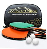 Senston Professional Ping Pong Paddle Set,2 High Performance Table Tennis Rackets with 3 Balls,Portable Cover...