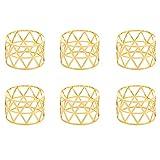 Jiakalamo - Servilletas redondas de metal calado para cenas,...