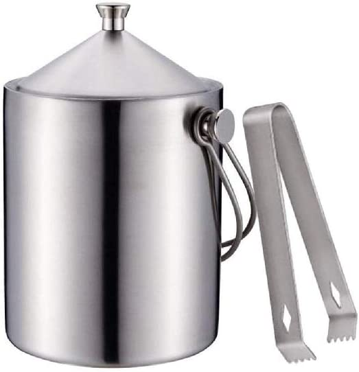 WPYYI Metal Great interest Ice Bucket- Double Our shop most popular Stainless Wall Insulated Steel Ic