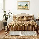Tache Home Fashion Paisley Exotic Comforter Set, King, Burgundy