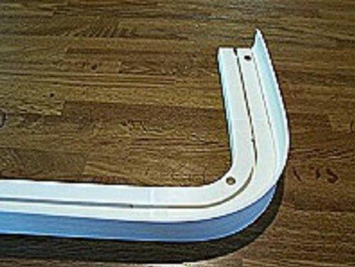 Aufklipsblende für Gardinenschiene 5 cm weiss bis 25 Meter am Stück (Weiss, 2.500 Zentimeter)