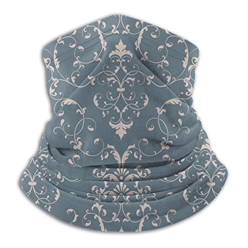 Calentador de Cuello de Microfibra Unisex Elemento de Damasco Elegante Textura de Lujo Pasamontañas Sombreros Bufanda para Polvo Viento Protección Solar