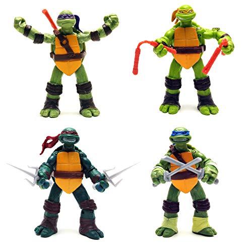 365store Ninja Turtles Action Figures Mutant Teenage Set 4pcs 5in