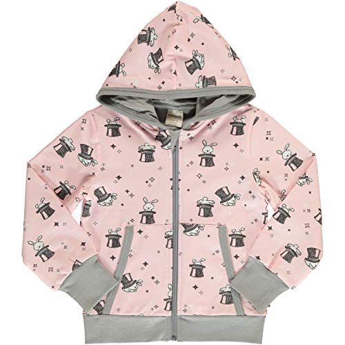 Maxomorra Mädchen Kapuzenjacke Cardigan Hood Magic Rabbit (122/128)