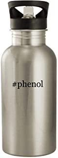 #phenol - 20oz Stainless Steel Water Bottle, Silver