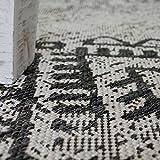 Paco Home In- & Outdoor Teppich Vintage Design Rautenmuster Flachgewebt In Grau, Grösse:80x150 cm - 3