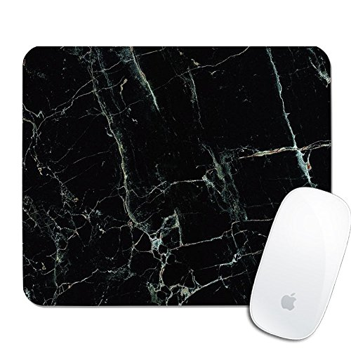 Royal Up Print Black Marble Custom Mouse Pad Gaming Mouse Mat Keyboard Pad Waterproof Material Non-Slip Personalized Rectangle Mouse pad