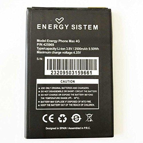 Todobarato24h Bateria Energy Phone Sistem MAX 4G, 2500 Mah Mod. 425969 (NO Valida EL ENEGY SISTEM MAX, Solo EL 4G)
