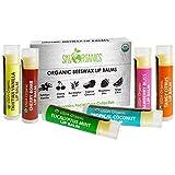 Sky Organics USDAオーガニックリップバームbyスカイオーガニックス-6パックアソートフレーバー-蜜蝋、ココナッツオイル、ビタミンE。アメリカ製