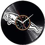 EVEVO Jaguar Reloj De Pared Vintage Accesorios De Decoración del Hogar Diseño Moderno Reloj De Vinilo Colgante Reloj De Pared Reloj Único 12' Idea de Regalo Creativo Vinilo Pared Reloj Jaguar