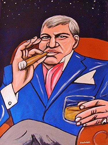 WILLIAM SHATNER CIGAR PRINT POSTER TV series star trek boston legal show capt kirk booze liquor dvd blu-ray disc