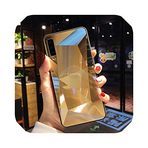 Carcasa suave de espejo 3D para iPhone 11 Pro XR XS Max fundas de teléfono para iPhone 6S 7 8 6 Plus prisma láser degradado cubierta trasera dorada para iPhone 6S Plus