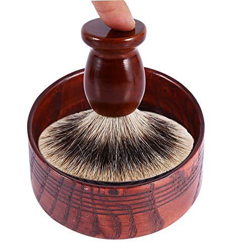 Tazza di legno naturale di sapone da barba a mano attrezzi di Coppa rotonda Que 7,5 x 3,7 cm