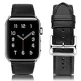 MroTech Ersatz für iWatch 38mm Lederarmband 40mm Watch Band Ersatzband Echtleder Uhrenarmband Leder...