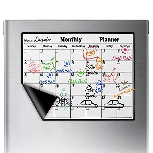 IFCOW calendario magnético pizarra borrado seco refrigerador