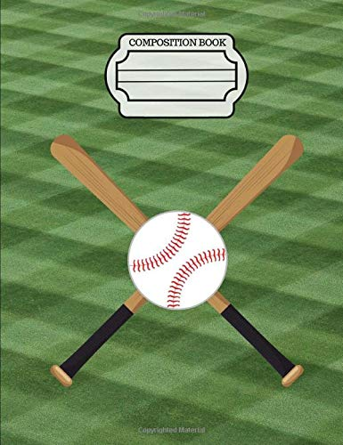 Baseball - Sports Fans Journal, Composition Notebook, 5x5 Quad Rule Graph Paper: 101 sheets / 202 pages (7.44' x 9.69') [Lingua Inglese]