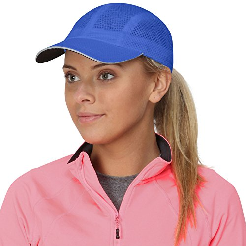 TrailHeads Race Day Performance Laufkappe – Kappe Damen – Leichte, Schnell Trocknende Damen Cap – Schirmmütze Damen - kühles blau