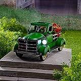 Taloit Retro Stil Solar Pickup Truck Garten Dekoration, Metall Truck Pflanzer, Hausgarten Outdoor Style Pickup Truck Garten, Sukkulenten Pflanzenhalter für Home Office Ornament 11.81x7.08x7.08in