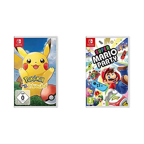 Pokémon: Let's Go, Pikachu! - Import Allemand, jouable en français & Super Mario Party Switch