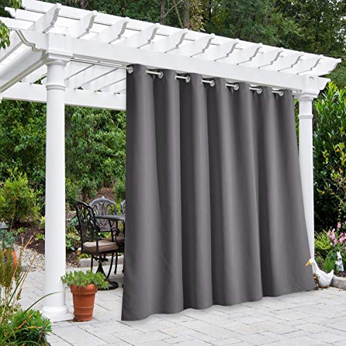 home patio curtains NICETOWN Outdoor Curtain for Patio Waterproof Extra Wide 100