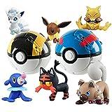 6Pcs Pokemon Pokeball Pikachu Carry Ball Figuras De Acción 7Cm, Figura De Anime Monstruo De Bolsillo Variante Modelo Set PVC Juguetes para Niños Regalo