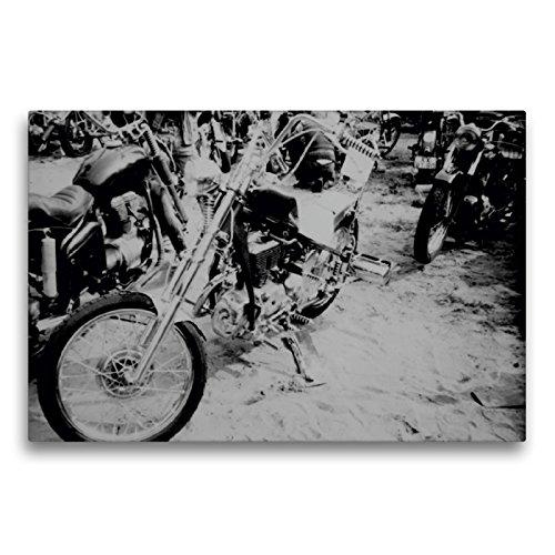 Premium Textil-Leinwand 75 x 50 cm Quer-Format Harley des Ostens - Simson 425 | Wandbild, HD-Bild auf Keilrahmen, Fertigbild auf hochwertigem Vlies, Leinwanddruck von Dirk Ehrentraut