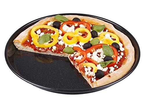 CHG 3461-66 Plaque de Four pour Pizza 32cm émaillée, Anthracite, 32 x 32 x 3 cm