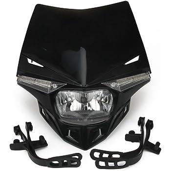 Fanale da moto V-Face maschera per fanale 35//35/W luce di posizione Bianco// nero universale