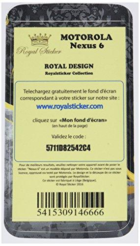 Royal Sticker RS.118208 Sticker voor Motorola Nexus 6, Koninklijk ontwerp