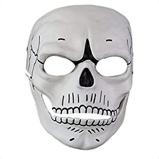 Cahayi Halloween Mask Men Scary Skull 007 Adult Full Facemask for Masquerade Cosplay Party Home Collection
