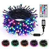 Brizled Color Changing Christmas Lights, 66ft 200 LED Dual Color Modes Plugin Christmas Tree Lights with Remote, Dimmable Waterproof Twinkle Christmas Lights for Room Indoor Outdoor Party Xmas Decor