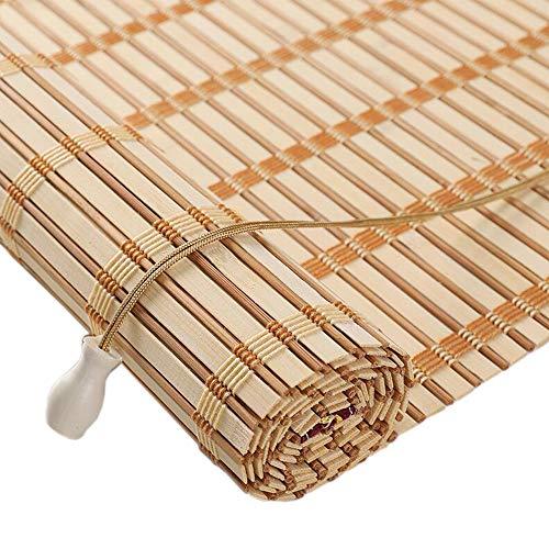 Jcnfa-rolgordijnen, natuurlijke bamboe, rolgordijnen, natuurlijke gordijnen, corrosie- en stofdicht, geschikt voor binnenplaats, tuin, buiten, aanpasbaar, 2 kleuren