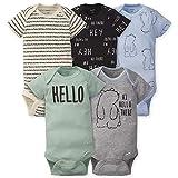 GERBER Baby Boys 5-Pack Variety Onesies Bodysuits, Hello Bear 0-3 Months