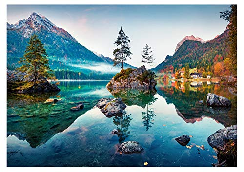 Jigsaw Puzzles 1000 Pieces for Adults and Kids Nature Series Large Thousand Pieces Puzzle Autumn Lake Board Size 27''x19''