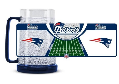 Hall of Fame Memorabilia New England Patriots Crystal Freezer Tasse