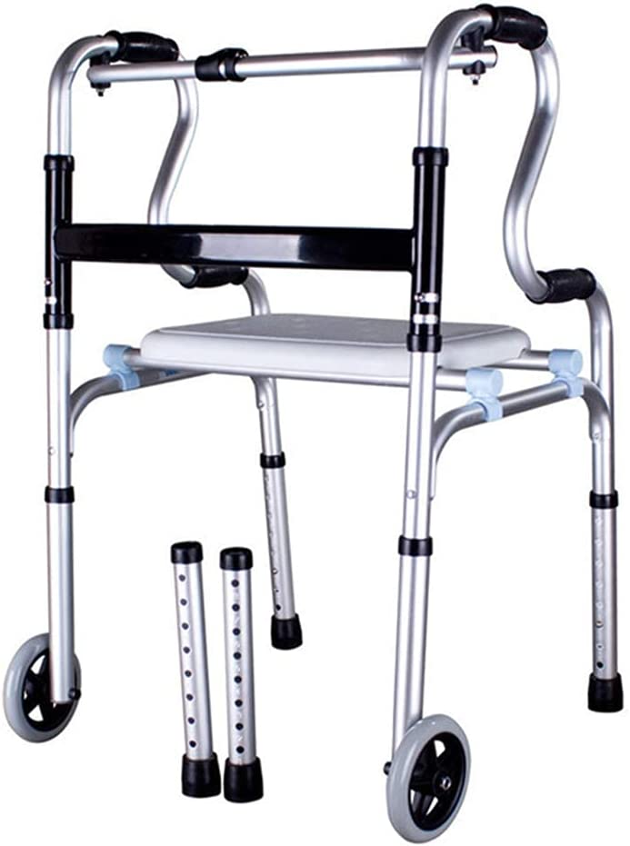 QIQIZHANG Walkers for Seniors Foldable Rollator Walker Rehabilit