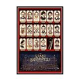 GUICAI The Grand Budapest Hotel Movie Art Print Poster Home Wall Art Posters Pintura Imprimir Sala de Estar Decoración del hogar -50X70 cm Sin Marco 1 Uds