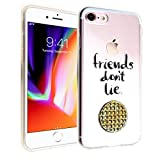 iPhone 7 8 CASEMPIRE Stranger Things Friends Don't Lie Waffle Durable TPU Case Shock Proof Never Fade Slim Fit Cover for Apple iPhone 7/8 - Stranger Things Waffle IP 7 8 TPU Clear