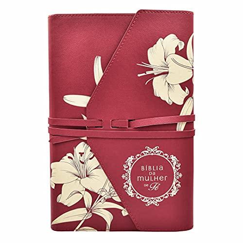Bíblia da Mulher de Fé, NVI, Couro Soft, Lírios do Campo