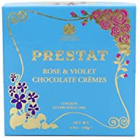 Prestat Dark Chocolate Rose and Violet Cr?mes 140 g