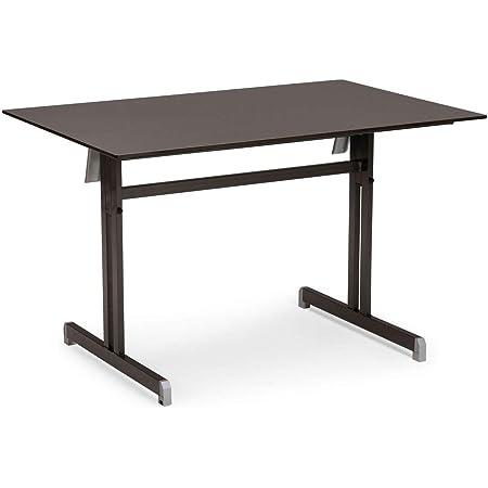 Amazon De Best Klapptisch Bodega 120x80 Cm Anthrazit Tisch Esstisch Gartentisch