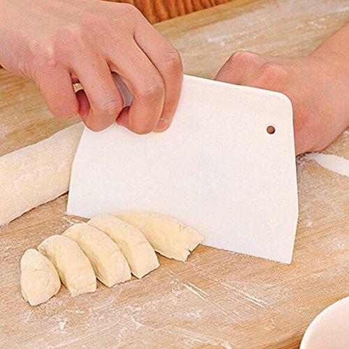 Pastry masa raspador cortador plástico de repostería para decoración de Pizza cortador de masa para repostería Pan cuchillo separador
