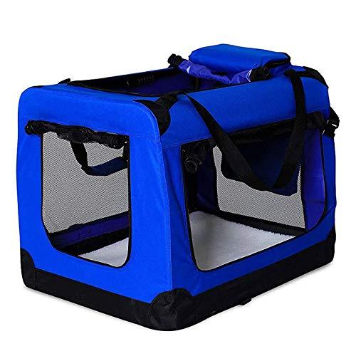 dibea Hundetransportbox Hundetasche Hundebox faltbare Kleintiertasche Größe (L) 70x52x50 cm Farbe Blau