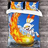 shenguang Juego de edredón de Ropa de Cama Scor-Bunny Juegos de Cama de 3 Piezas, Suaves y cómodos, de Microfibra, livianos, con 2 Fundas de Almohada de 86 'X 70'