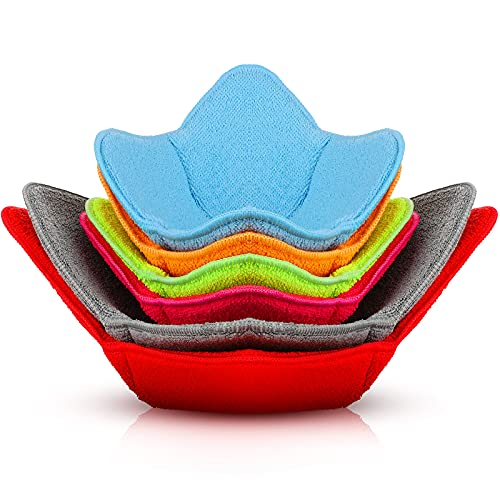 6 Pieces Multi Color Microwave Safe Bowl Huggers Microwave Plate Holder Hot Bowl Holder Microwave...