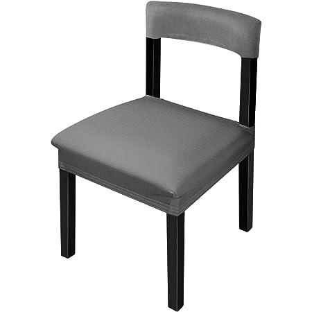 Office Gris fonc/é Smiry Stretch couvertures de Chaise pour Bureau et Chaise de Table de Salle /à Manger Jacquard protecteurs Coussin dassise Chaise Housses