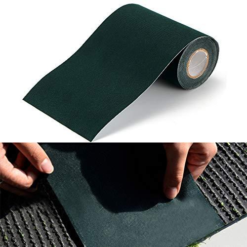 OurLeeme Nastro Adesivo per Erba Artificiale, 5m X 15CM Nastro di Giuntura ad Erba Artificiale Nastro per Autoadesivo per tappeti Prato Verde (1PCS)
