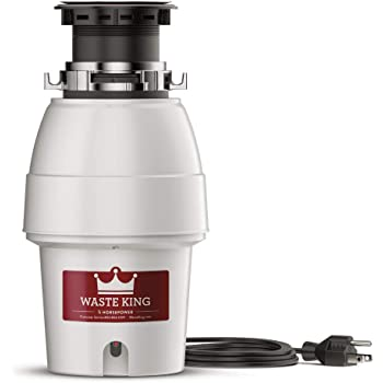 Waste King Legend Series 1/2 HP Continuous Feed Garbage Disposal with Power Cord - (L-2600)